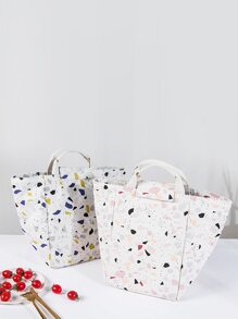 Terrazzo Pattern Lunch Box Bag 1pc