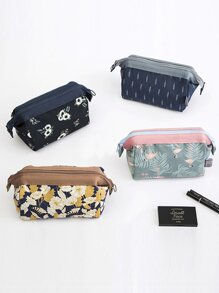 Floral Print Cosmetic Storage Bag 1pc