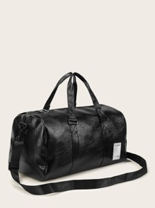 Solid PU Bowler Bag