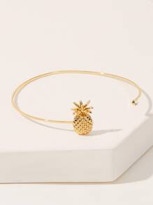 Pineapple Decor Cuff Armlet Bracelet 1pc