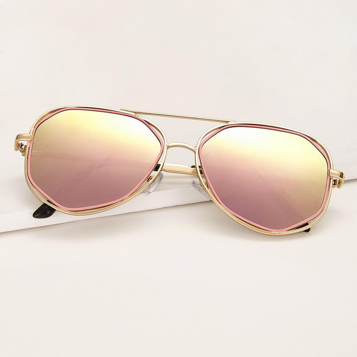 Солнцезащитные очки-авиаторы с чехлом