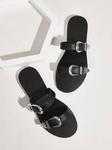 Double Buckle Strap Sliders