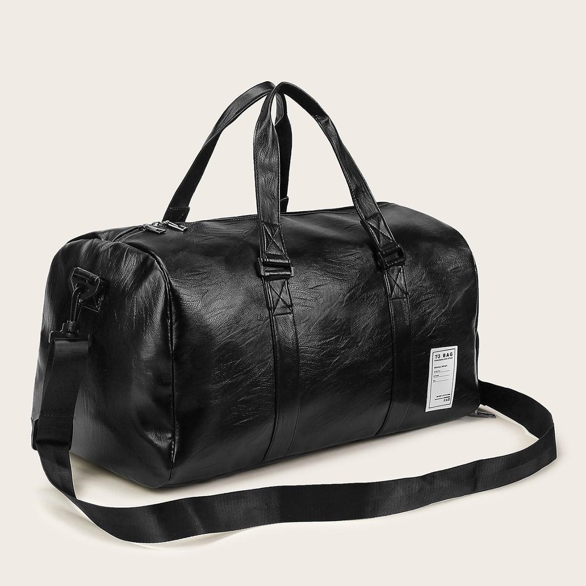 Reine PU Bowler Tasche