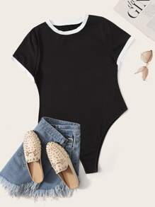 Plus Piping Trim Tee Bodysuit