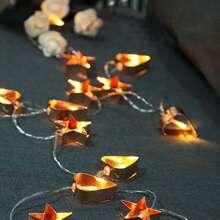 10pcs Iron Heart & Star Shaped Bulb String Light 1.5M
