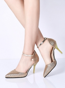 Pointed Toe Glitter Heels