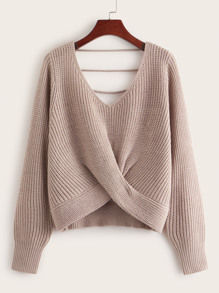 Twist Front Strappy Back Sweater