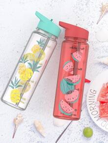 Fruit Print Water Bottle 1pc