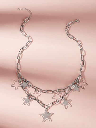 Star Decor Chain Choker 1pc