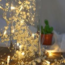 10pcs Bulb Faux Pearl Decor String Light 2M