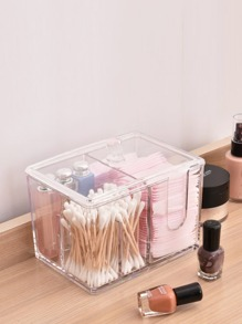 Transparent Cotton Pad Storage Box 1pc