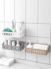 Wall Mounted Bathroom Storage Basket 1pc