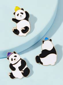 Panda Design Brooch 3pcs