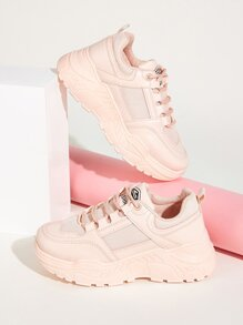 Lace-up Front Lug Sole Trainers