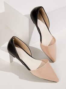 Point Toe Two Tone Flats