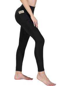 Pocket Side Solid Leggings