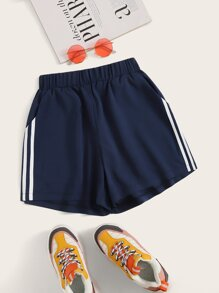 Side Stripe Tape Track Shorts
