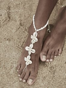 Shell Decor Toe Ring Anklet 1pc