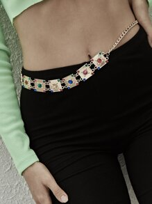 Gemstone Design Waist Chain 1pc