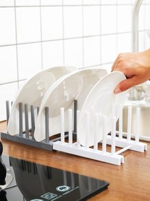 Kitchen Plate Drain Storage Rack 1pc