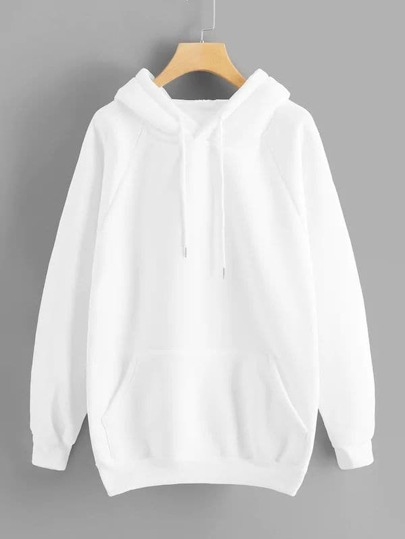 Plus Kangaroo Pocket Drawstring Hoodie