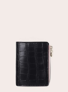 Croc Embossed Fold Over Purse