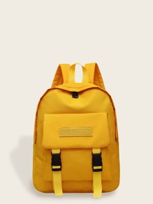 Release Buckle Front Canvas Backpack