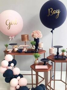 Letter Print Decorative Balloon Set 21pcs