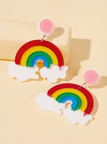 Rainbow Drop Earrings 1pair