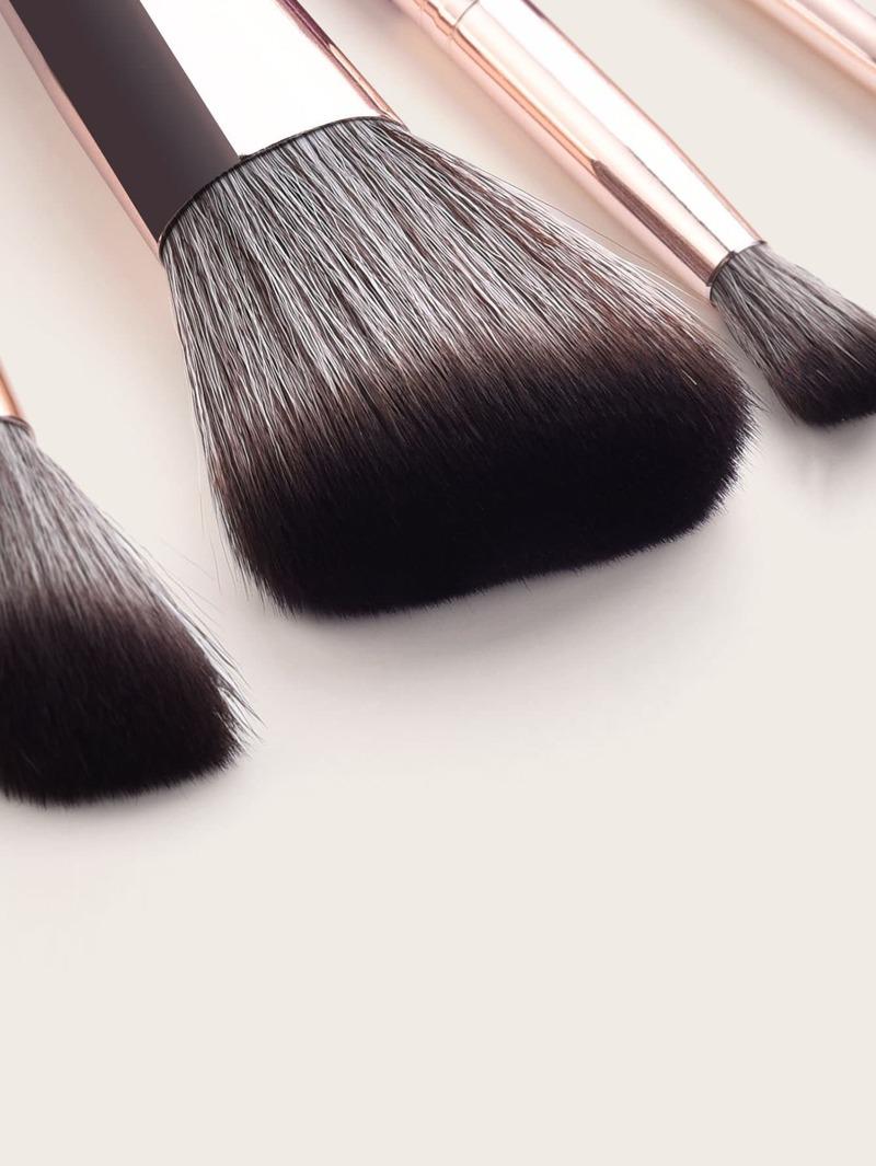 Duo-fiber Fan Shaped Makeup Brush 10pcs