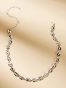 Hollow Out Oval Decor Choker 1pc