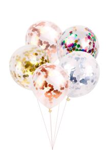 Random Color 12inches Sequin Balloon 5pcs