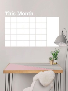 Monthly Schedule Note Wall Sticker