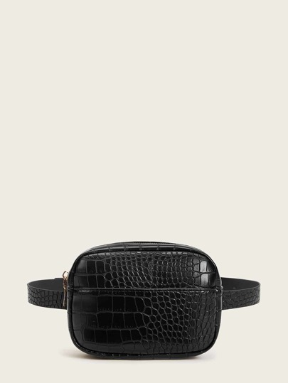 Croc Embossed Fanny Pack