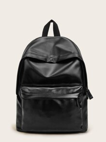 Solid PU Backpack