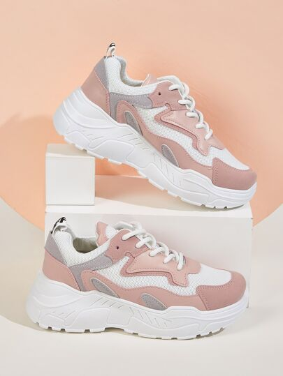 Lace-up Chunky Sole Trainers