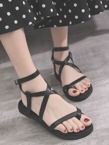 Toe Ring Ankle Strap Sandals