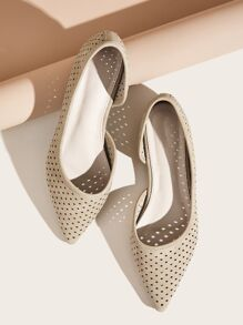 Point Toe Hollow Out Flats