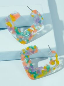 Colorful U Shaped Earrings 1pair