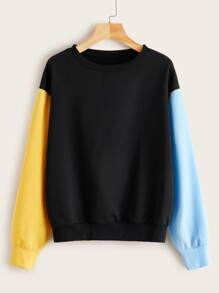 Colorblock Drop Shoulder Sweatshirt