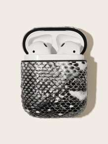 Snake Embossed Pattern Airpods Box Protector