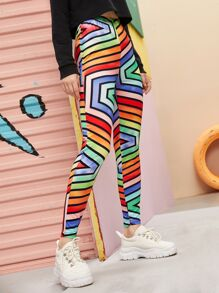 Colourful Geo Print Leggings