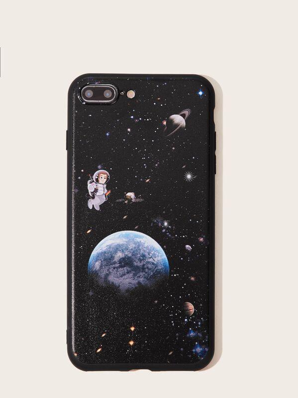 buy popular 1e3b0 2ea17 Astronaut & Planet Pattern iPhone Case
