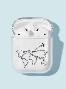 Map Pattern Airpods Box Protector