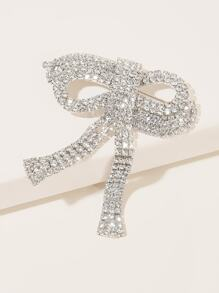 Rhinestone Engraved Bow Knot Design Hair Clip