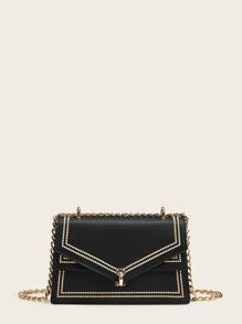 Flap Chain Crossbody Bag