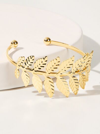 Leaf Design Cuff Bracelet 1pc