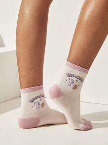 Unicorn Pattern Socks 1pairs