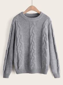 Twist Cable Knitted Sweater