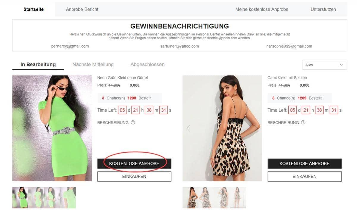 Hilfezentrum Fur Die Kostenlose Anprobe Aktuelle Trends Gunstig Kaufen Shein Deutschland